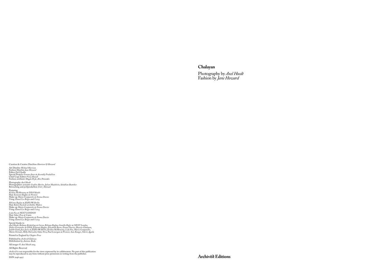Archivist: Chalayan, Michael Harrison